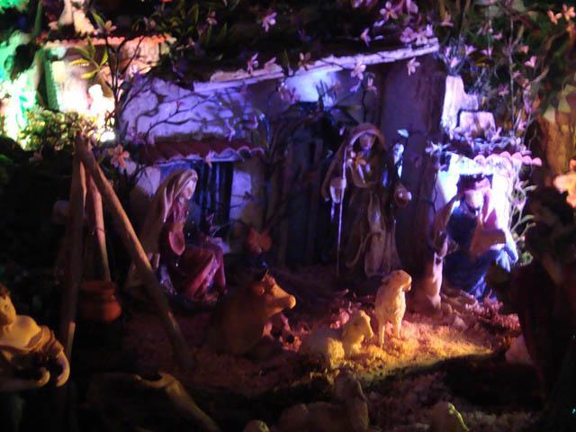 portal de noche. Belén de la familia Jaimes (Bucaramanga)