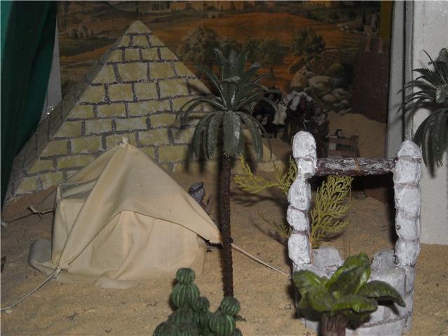 desierto y jaima. Belén de Familia Luque Pruna (San Juan  de Aznalfarache)