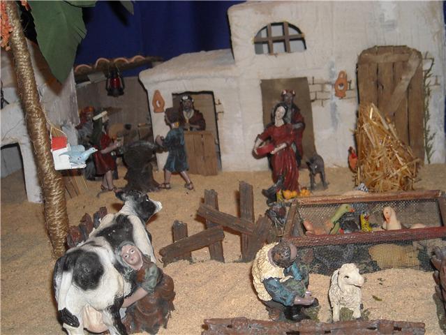 granjeros y carpinteros. Belén de Familia Luque Pruna (San Juan  de Aznalfarache)