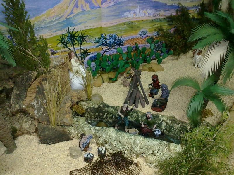 pescadores. Belén de Familia Luque Pruna (San Juan  de Aznalfarache)
