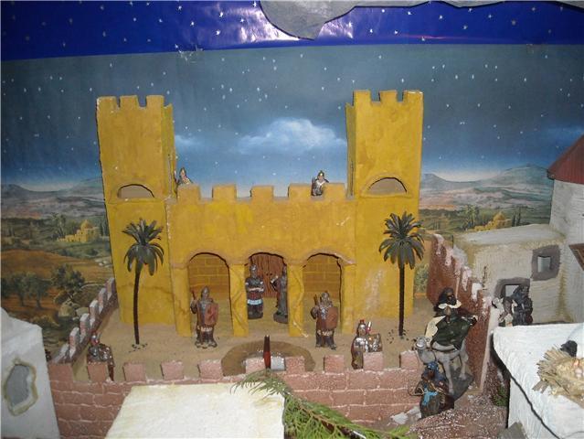 castillo. Belén de Familia Luque Pruna (San Juan  de Aznalfarache)