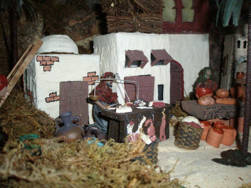 Carnicero y Alfarero. Belén de fernando de Santiago (La Coruña)