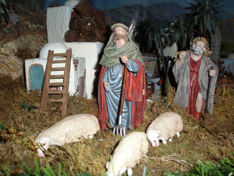 Pastores y Rebaño. Belén de fernando de Santiago (La Coruña)