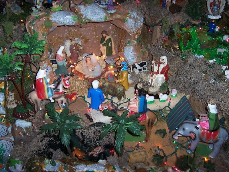 Llegan Reyes Magos. Belén de Ignacio Palacios (Kilgore, Texas)