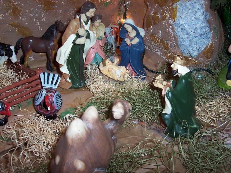 Jesús, José y María. Belén de Ignacio Palacios (Kilgore, Texas)