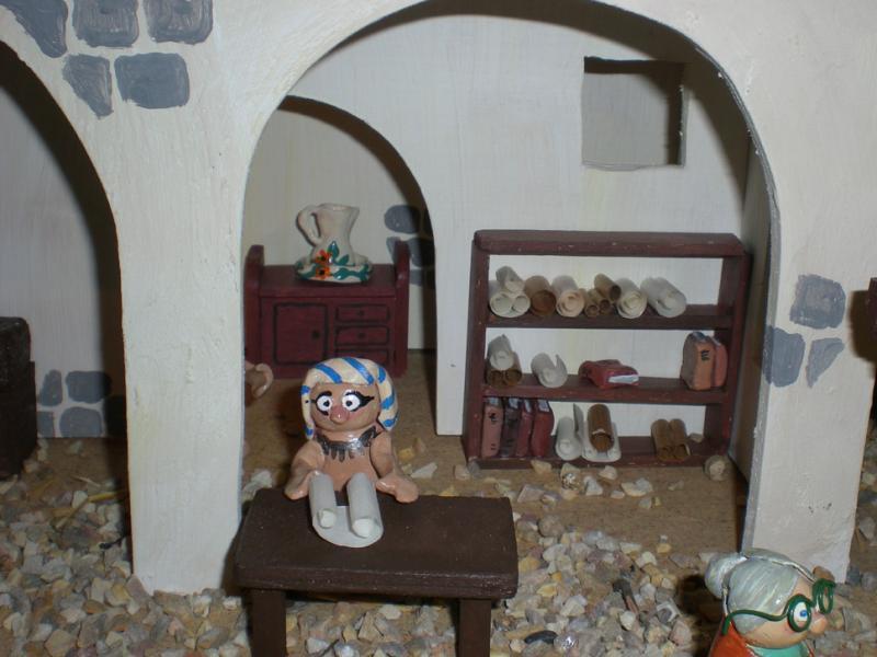 egipcios. Belén de Irene Sahagún (Sant Pere Pescador - Girona)