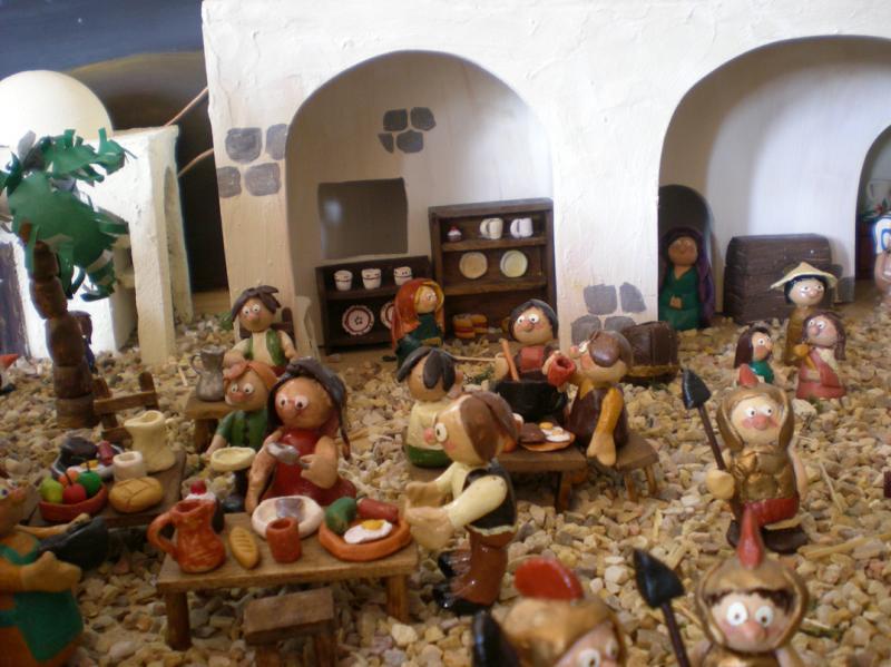 la posada. Belén de Irene Sahagún (Sant Pere Pescador - Girona)