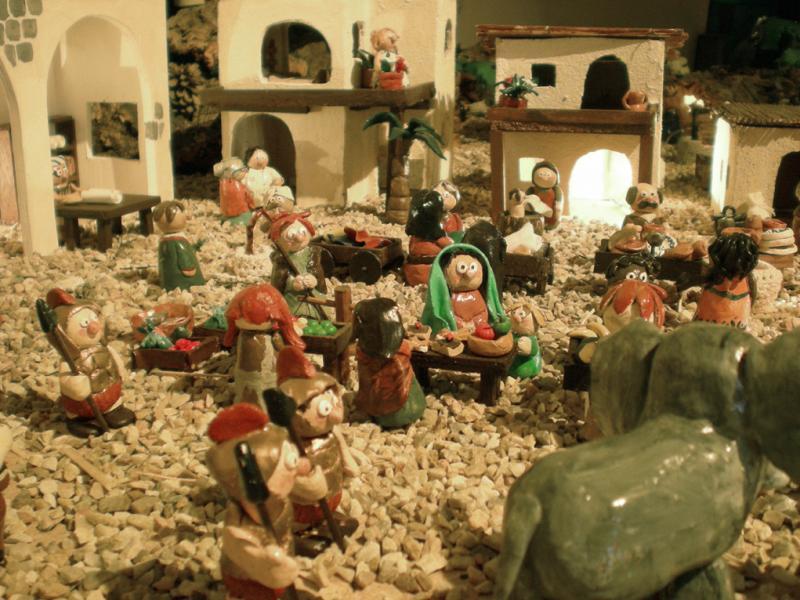 el mercado. Belén de Irene Sahagún (Sant Pere Pescador - Girona)