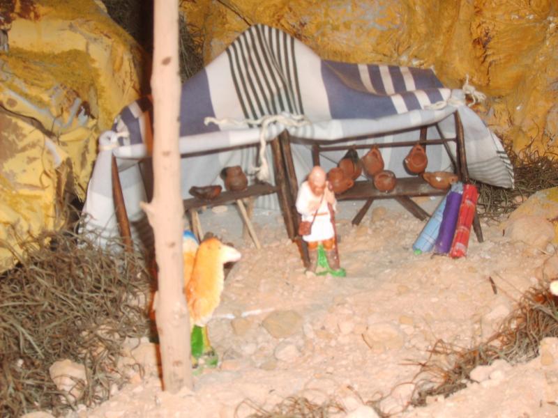 Tienda de campaña. Belén de Jose Antonio Pineda (Guatemala)