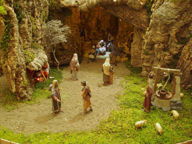 Portal de Belen. Belén de Jose Mª Alonso (Pamplona)