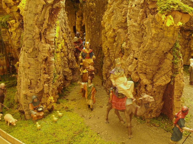 Los Reyes al portal. Belén de Jose Mª Alonso (Pamplona)