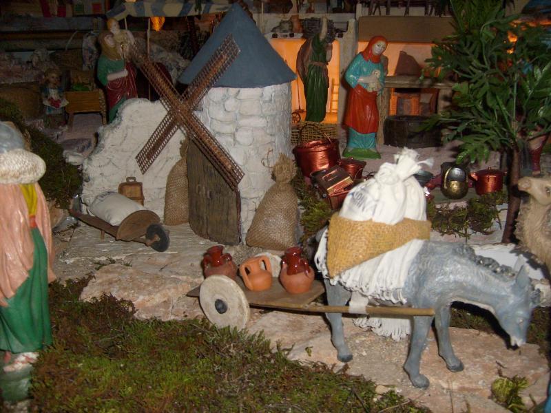 burro y molino. Belén de Mª Josefa (Villarejo, Periesteban, Cuenca)