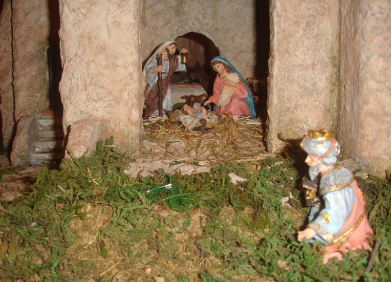 Nacimiento y Rey Melchor. Belén de julia (Andalucia)