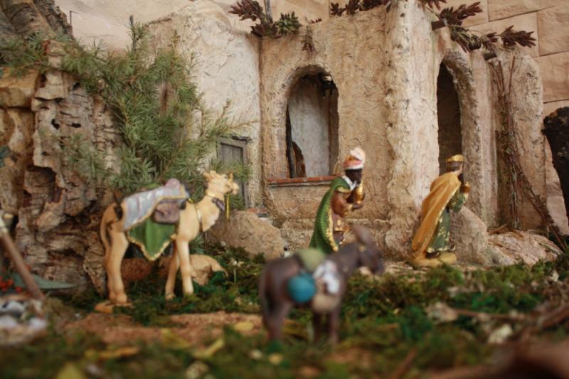 llegada de los Reyes Magos. Belén de julia (Andalucia)