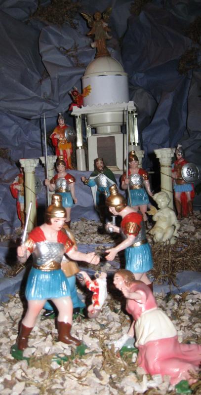 Herodes y la matanza de los inocentes. Belén de Luis Enrique Castillo (Lima)