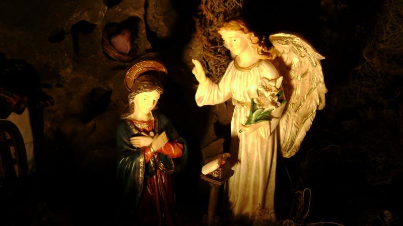 La Anunciación. Belén de Luis Carlos Aliaga Núñez del Prado (Cusco)