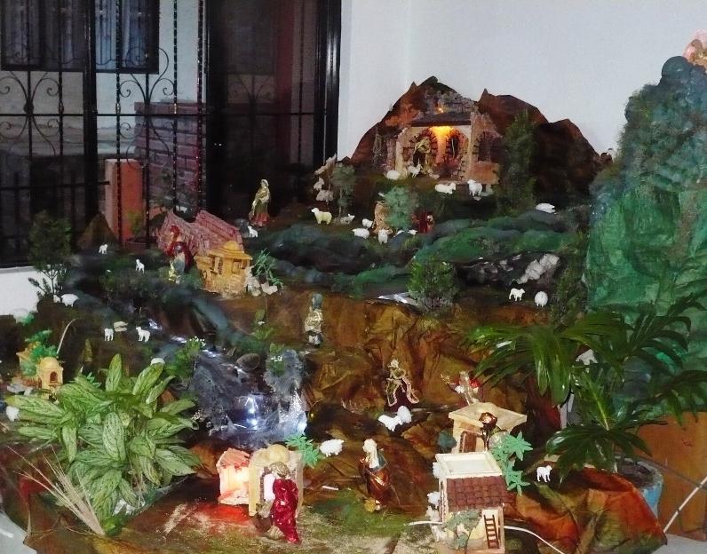 Pesebre en casa de mi hermano Jesús Medardo López Solarte en El Tambo Cauca Colombia. Belén de Solarte Mauricio (El Tambo Cauca)