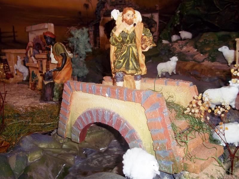 El pastor y las ovejas. Belén de Solarte Mauricio (El Tambo Cauca)