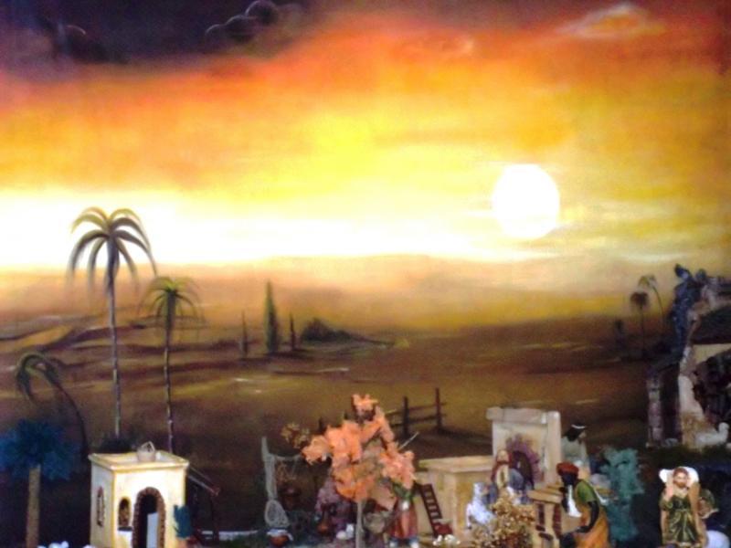 Atardecer en Belén lienzo pintado por Nury Edith Cruz Solarte. Belén de Solarte Mauricio (El Tambo Cauca)