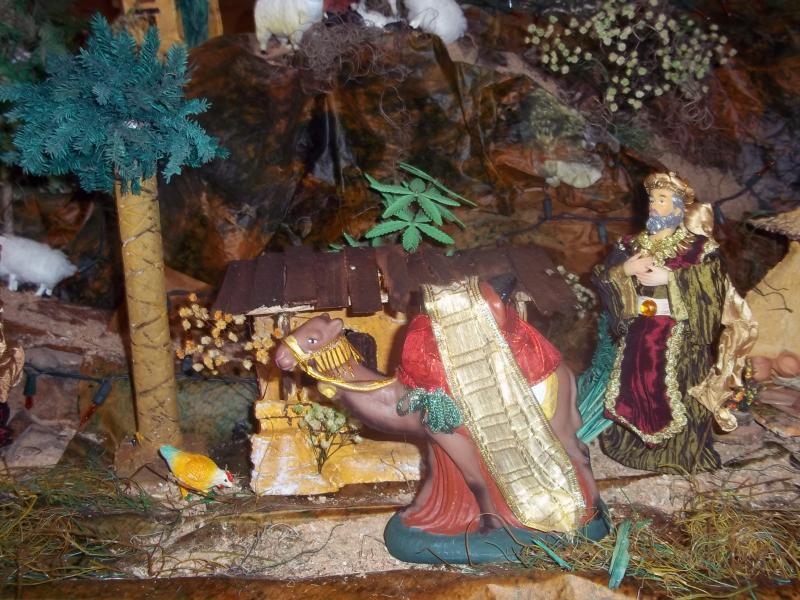 El rey mago y su camello. Belén de Solarte Mauricio (El Tambo Cauca)