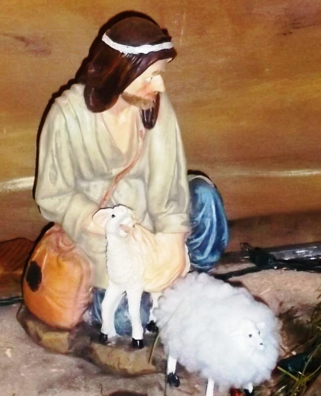 Pastor con ovejas. Belén de Solarte Mauricio (El Tambo Cauca)