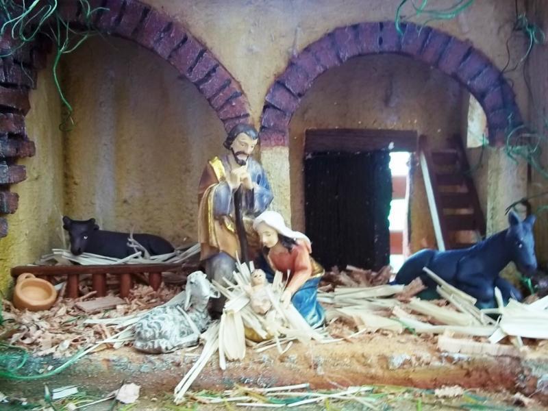 Portal y la sagrada familia. Belén de Solarte Mauricio (El Tambo Cauca)