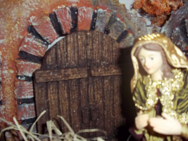 María en el Portal de Belén por Mauricio Solarte. Belén de Solarte Mauricio (El Tambo Cauca)