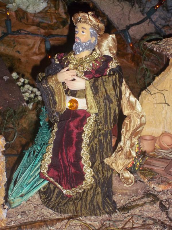 Rey mago camino hacia belén. Belén de Solarte Mauricio (El Tambo Cauca)