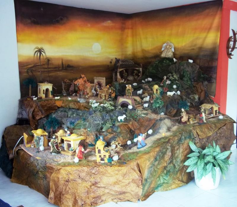 Belén realizado en casa de mi hermano Jesús Medardo López El Tambo Cauca 2010. Belén de Solarte Mauricio (El Tambo Cauca)