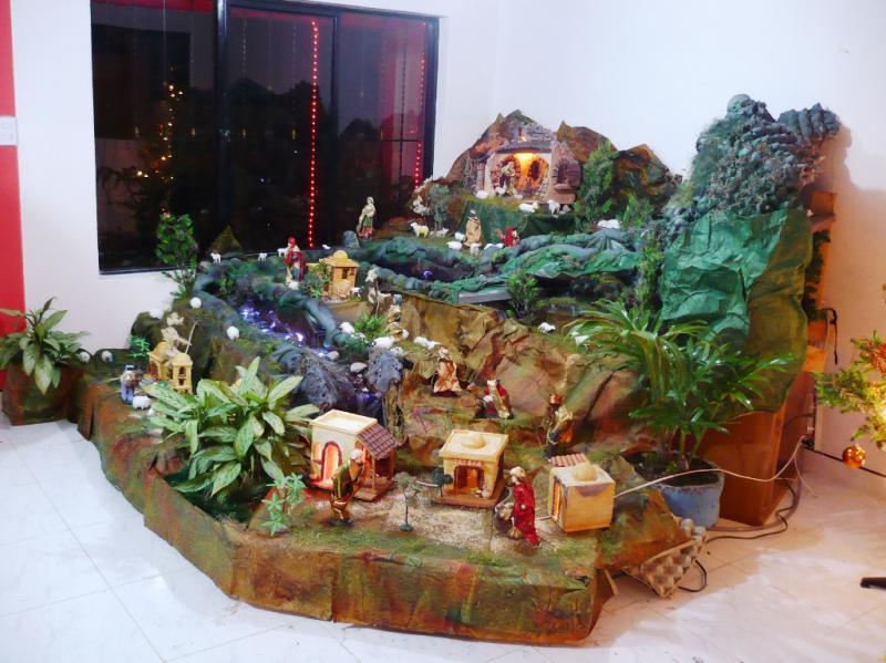Belén navidad 2009 casa de Jesus Medardo López El Tambo Cauca Colombia. Belén de Solarte Mauricio (El Tambo Cauca)