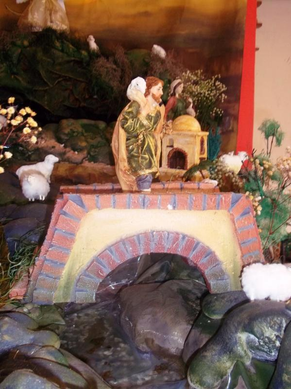 El pastor en el puente. Belén de Solarte Mauricio (El Tambo Cauca)