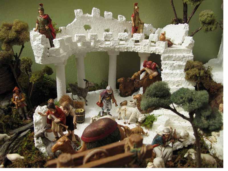 soldados  en ruinas de palacio. Belén de Jorge (New York)