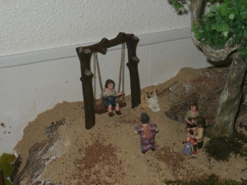 Niños jugando. Belén de tronky (Javali Nuevo)