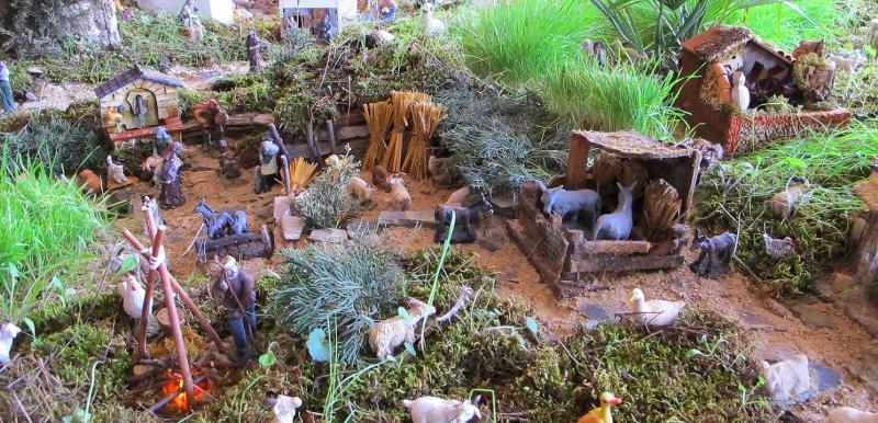 16- fogo, fonte, animais no campo. Belén de Bombeiros Municipais Tavira (Tavira)