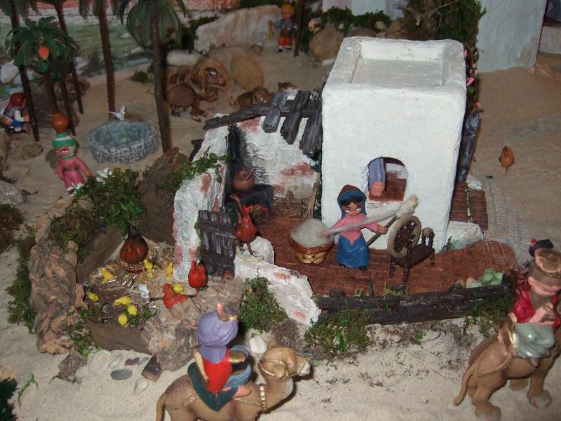 Casinha e poço. Belén de Associação Cultural Fusetense (Fuseta, Algarve)