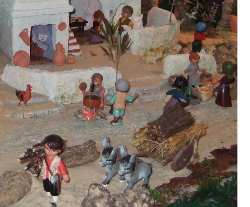 Carga de lenha e castanheira. Belén de Associação Cultural Fusetense (Fuseta, Algarve)