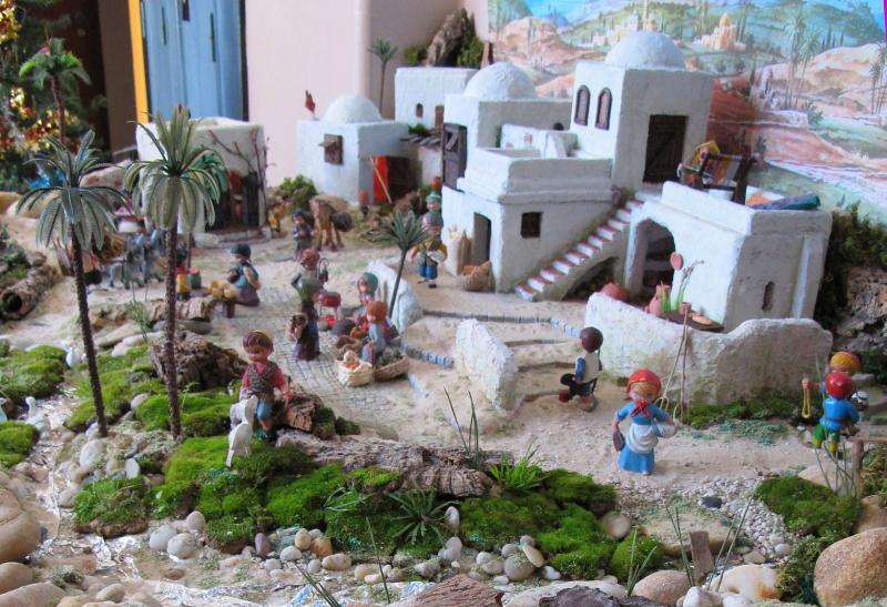 o Rio e a Aldeia. Belén de Associação Cultural Fusetense (Fuseta, Algarve)