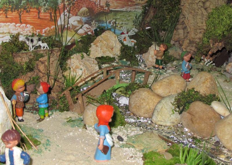 a Ponte e o Moinho. Belén de Associação Cultural Fusetense (Fuseta, Algarve)
