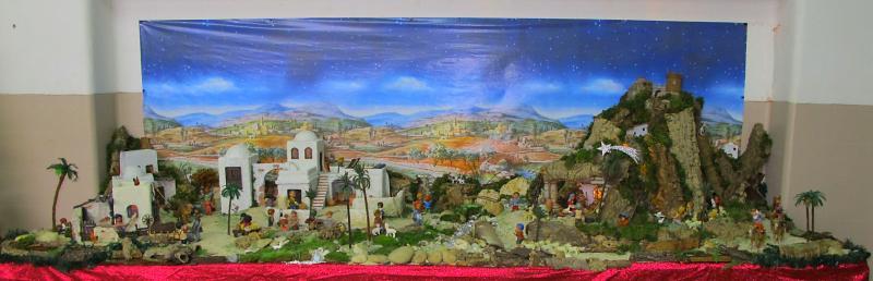 Presépio completo. Belén de Associação Cultural Fusetense (Fuseta, Algarve)