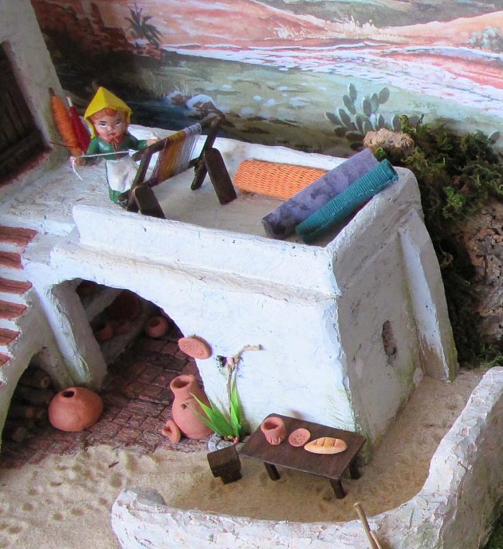 a Tecedora. Belén de Associação Cultural Fusetense (Fuseta, Algarve)