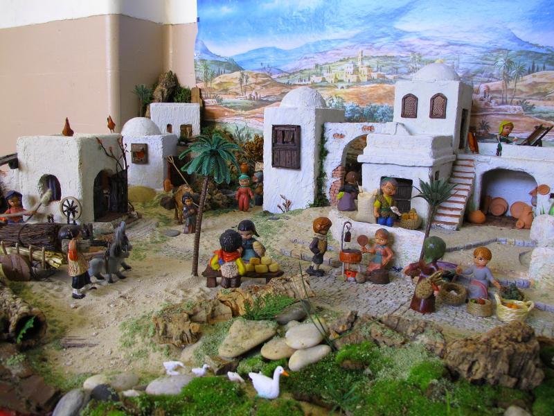 Vista geral, Aldeia. Belén de Associação Cultural Fusetense (Fuseta, Algarve)