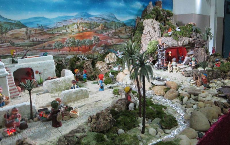 Vista geral, Rio. Belén de Associação Cultural Fusetense (Fuseta, Algarve)