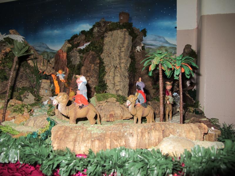 os três Reis Magos. Belén de Associação Cultural Fusetense (Fuseta, Algarve)