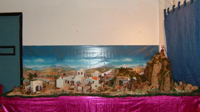 Vista geral. Belén de Associação Cultural Fusetense (Fuseta, Algarve)