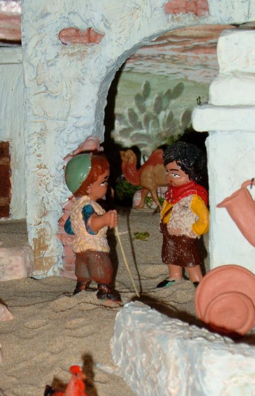 Na conversa. Belén de Associação Cultural Fusetense (Fuseta, Algarve)