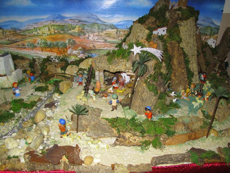 Vista geral, Montanha. Belén de Associação Cultural Fusetense (Fuseta, Algarve)