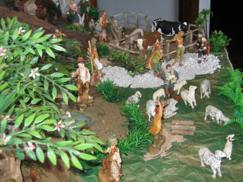 Desarrollo vida en el pesebre 2009. Belén de Wilson Rios (Cartagena)