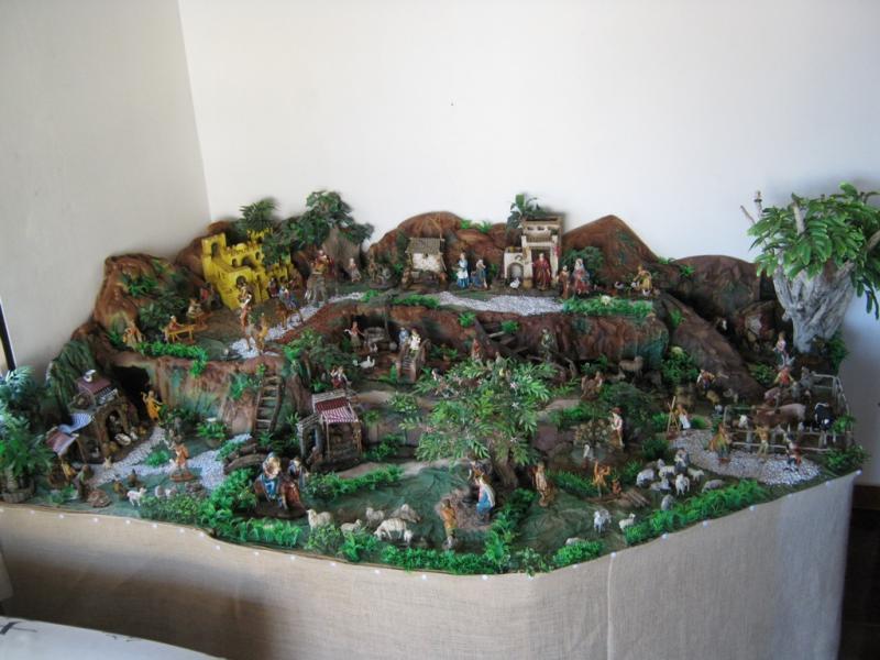 Vista general pesebre 2009. Belén de Wilson Rios (Cartagena)