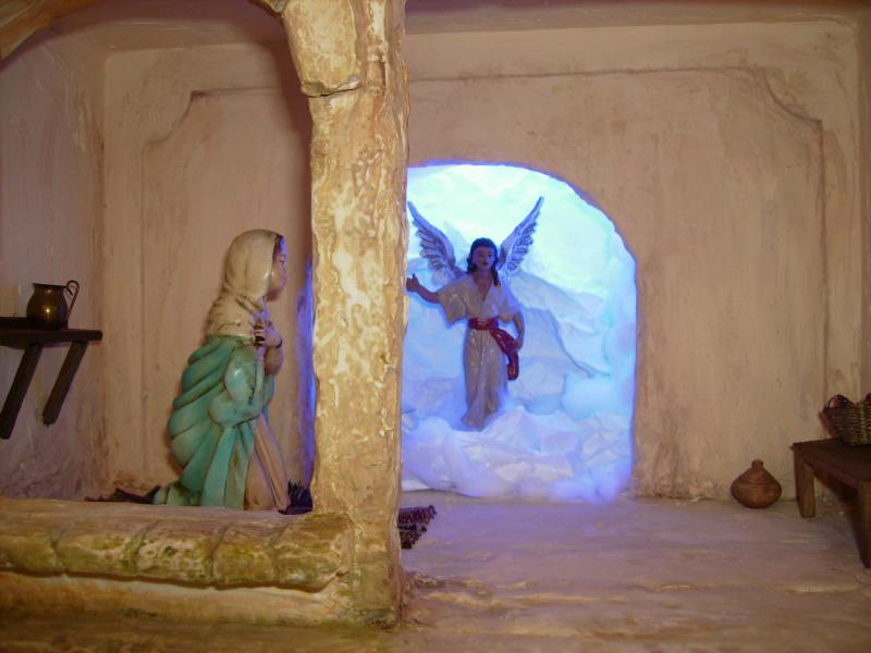 La Anunciacion -Orlando Alvarez - Belén de Corporacion de Pesebristas de Popayan - Fotos de Navidad Digital